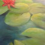 Seerose (Acryl auf Leinwand) 50x70