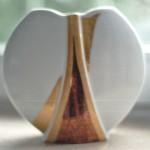 Vase rund modern gold-schwarz-Lüster