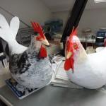 Hühner (Pappmacheé)