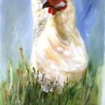 Huhn (Acryl auf Leinwand) 50x60
