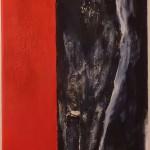 Der Neugierige (Acryl auf Leinwand) 30x90