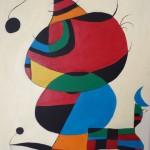 Acryl auf Leinwand nach Joan Miró