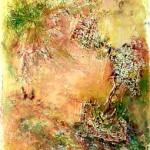 o.T. (Acryl, Relief) 40x50