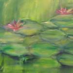 Seerosenteich  (Acryl auf Leinwand) 50x70