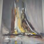 Segelschiff abstrakt 50x70