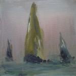 Segelschiffe im Nebel 20x20