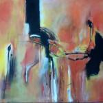 Der Mann am Klavier (Acryl auf Leinwand)  50x70